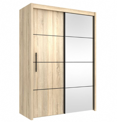 Carlo Sliding Door Wardrobe 151cm in Oak - 2419